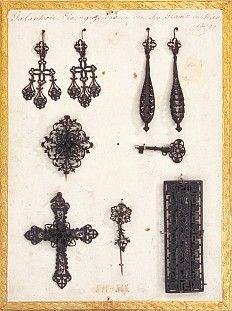 Joseph Glanz: Galanterieeisengusswaren, Ohrgehänge 1839