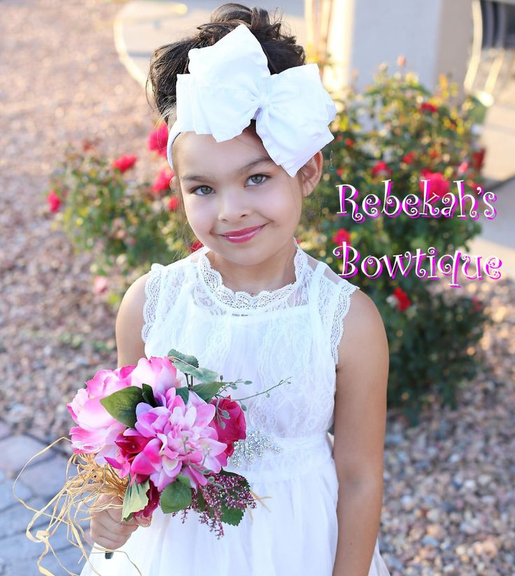 Jumbo hair bows, huge hair bows, double ruffle bows,white headband, baby headband, wedding hair bows, flower girl hair bows, fancy hair bows by RebekahsBowtique on Etsy https://www.etsy.com/listing/249329469/jumbo-hair-bows-huge-hair-bows-double