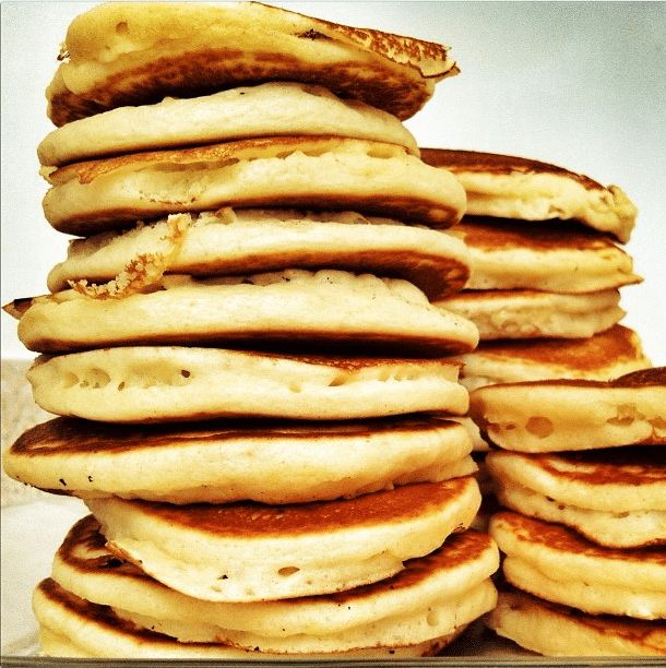 Share Tweet Pin Mail We love pancakes. I like  to make a big batch and freeze them so we have pancakes for a few ...