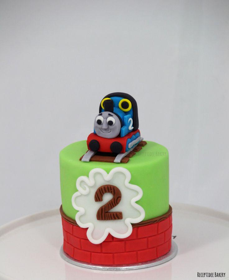 Thomas de Trein  meptaartje  Gefeliciteerd Collin met je 2e verjaardag! http://bakery.receptidee.nl #thomasthetrain #thomasdetrein #kinderverjaardag #kindertaart #taart #verjaardagstaart #kinderverjaardagstaart #treintaart #trein #birthday