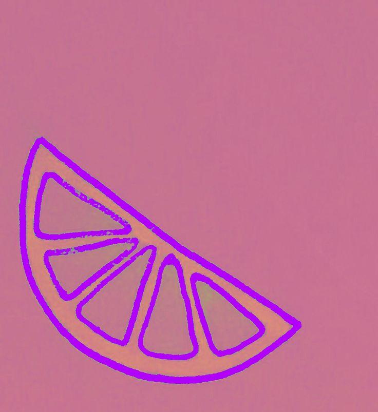 Physcadelic pink fruit doodle 2/2 by Lily Jones