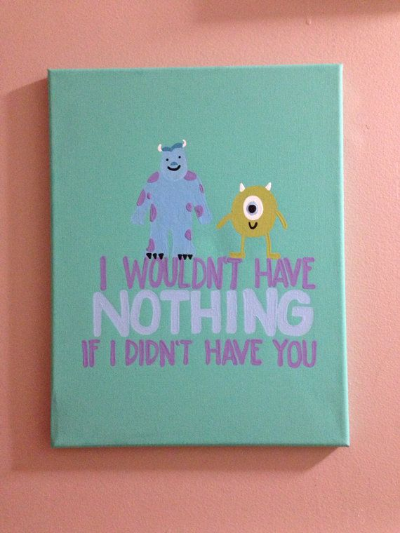 Monsters inc canvas on Etsy, $20.00