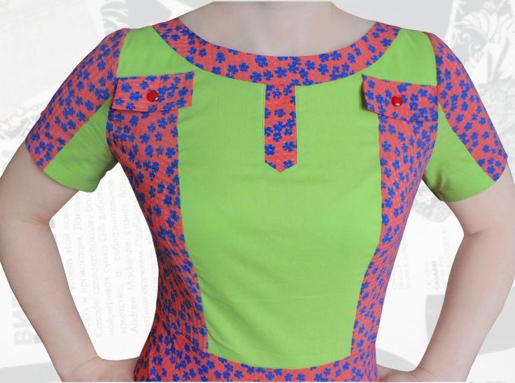 Купить летнее стильное платье в мелкий цветочек для полных девушек р. 50, 52, 54, 56, 58, 60, 62, 64, 66, 68, 70, 72, 74 офисный вариант