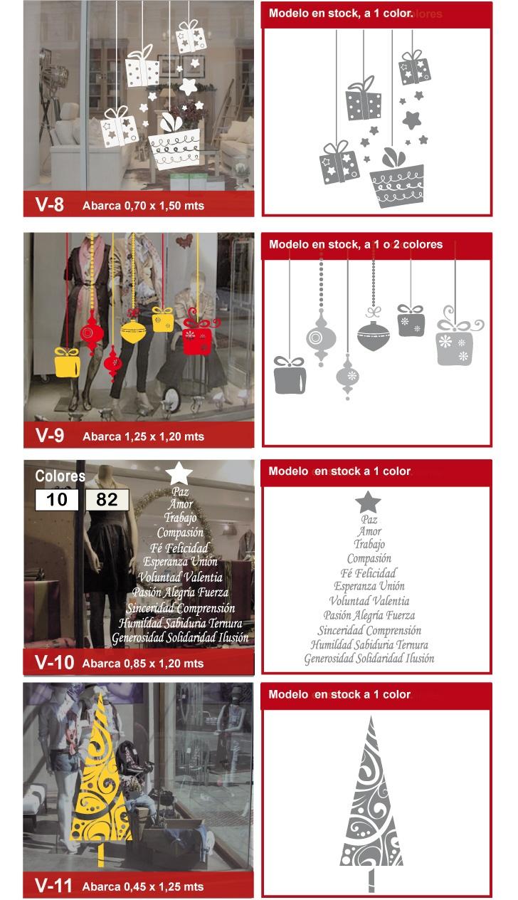 Vinilos Navidad Vinilos Decorativos Navideños Pared Vidriera - $ 85,00 en MercadoLibre