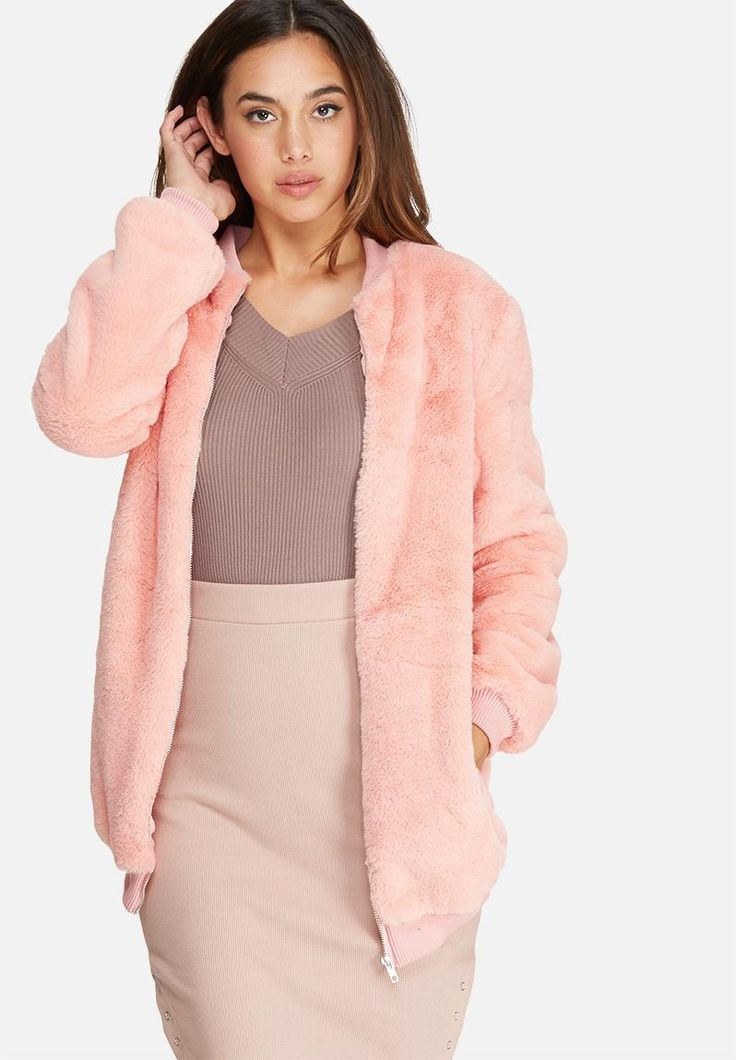 Layer up in style as the temperature drops. Made from a beautifully soft, faux fur material, this longline jacket is a must for stepping up your look this season. Wear it with sleeves slightly rolled, paired with a simple black-on-black top and trousers combination.