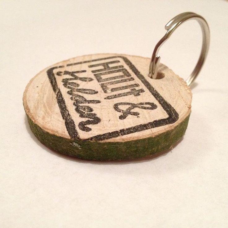 logostempel op hout