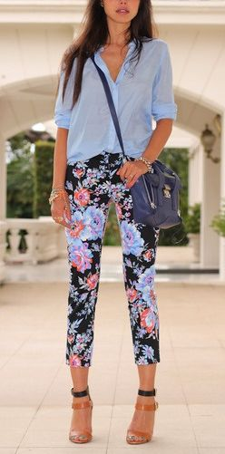 Cropped + floral.