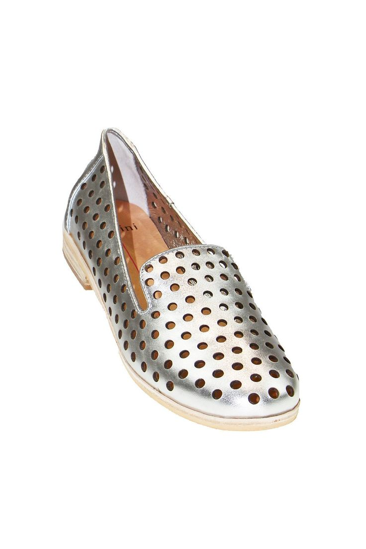 Mollini - Queff  Silver Leather Flat Shoes