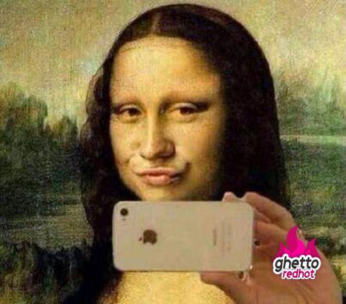 Mona Lisa duck face, classy