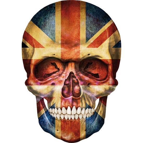 Skull art: British flag skull! ; ) (art T-shirt via creanova.fr)