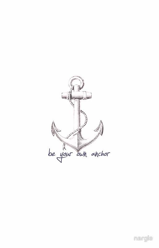 Teen Wolf Quote- Be Your Own Anchor | iPhone Case & Cover