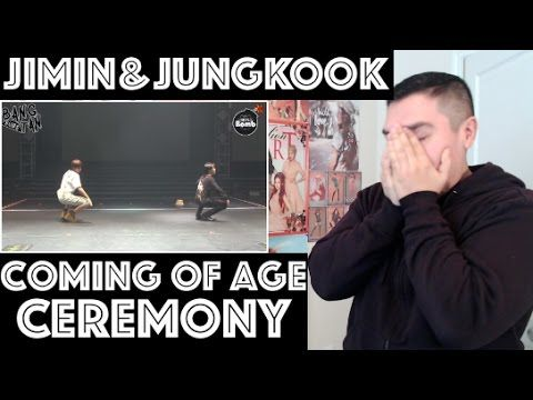 BTS JIMIN & JUNGKOOK (JIKOOK) COMING OF AGE/ADULT CEREMONY REACTION