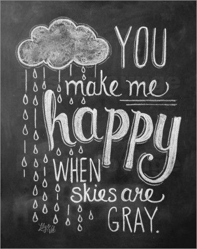 Poster Du machst mich glücklich