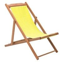 Yellow Sling Back Deck Chair