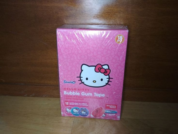Hello Kitty Bubble Gum Tape 1 Meter 18 Pieces by Sanrio Co.Ltd