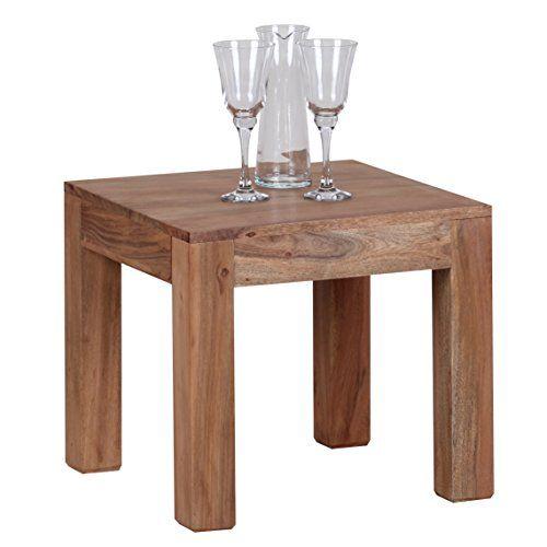 Wohnling Couchtisch Massiv Holz Akazie 45 Cm Breit Wohnzimmer Tisch