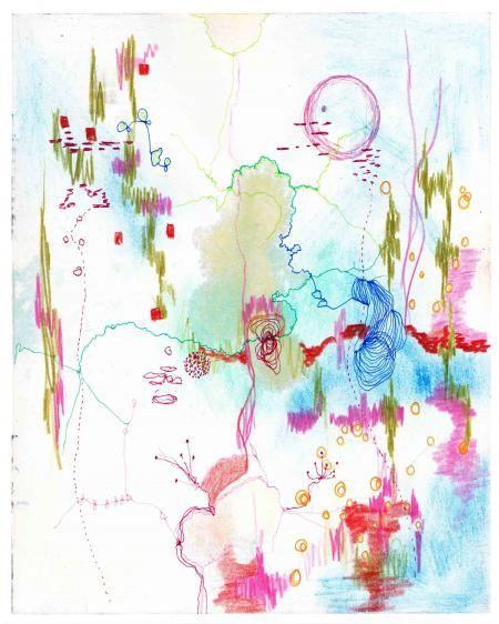 Artist: Deborah Taylor - Title: Moon Garden (Height - 25.40 cm X Width - 20.32 cm )
