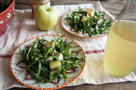 Arugula Salad Recipe + Apple, Honey & Fig Goat Cheese | Summer Salads