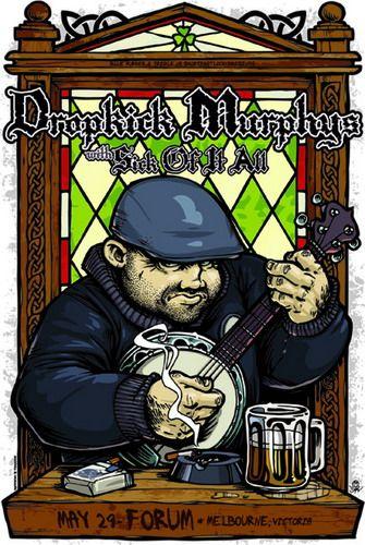 The Dropkick Murphys 2008 Concert Poster by Daymon Greulich