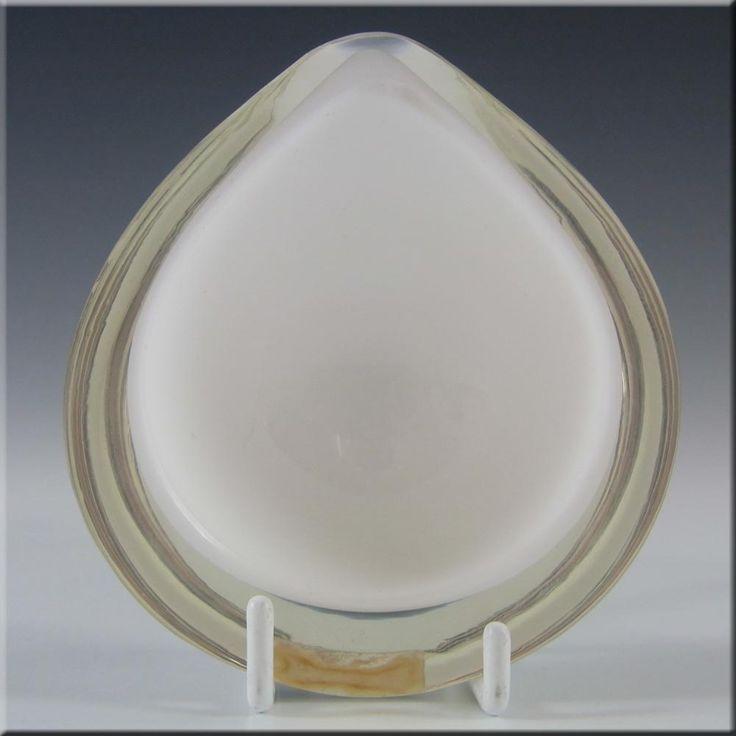 Nuutajarvi Notsjo Kaj Franck White Glass Bowl - Signed - £79.99