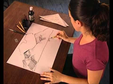 ▶ Curso practico de dibujo y pintura dibujo tinta y caña - YouTube