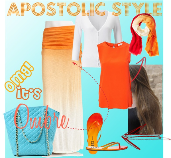 """Ombre Apostolic Style"" by emmyholloway on Polyvore"