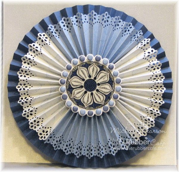 Rubber Cafe - Rosette Medallion by istamp31 - Cards and Paper Crafts at Splitcoaststampers