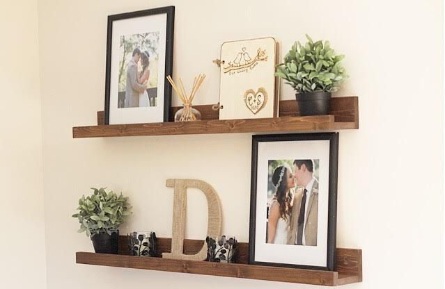 Rustic Wooden Picture Ledge Shelf Gallery by DunnRusticDesigns
