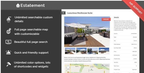 Estatement - Powerful Real Estate Management - ThemeForest Item for Sale