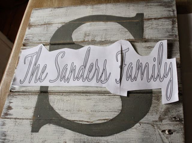 You've probably seen these wood pallet family name signs on Pinterest. They've got rustic charm, an adorablelittle monogrammed letter...
