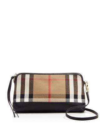 Burberry House Check Derby Small Abingdon Clutch | Bloomingdale's