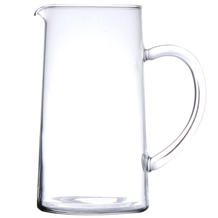 Cardinal Arcoroc 52349 44 oz. Glass Pitcher with Pour Lip - 6 / Case