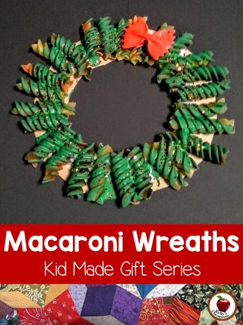 Cute kid-made gift idea! Kelly's Classroom Online: Macaroni Christmas Wreaths