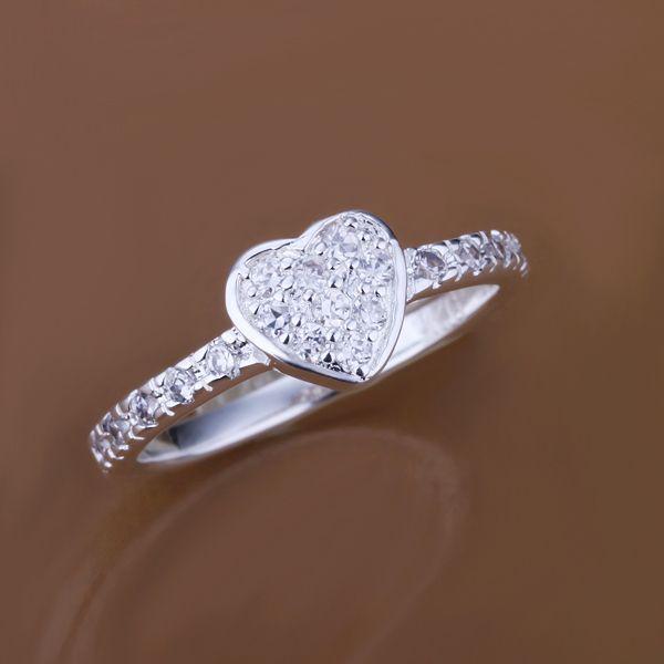 LOCHING Fashion Ring 925 Sterling Silver Ring Rose Gold/Silver for Women/Girls ftyOs