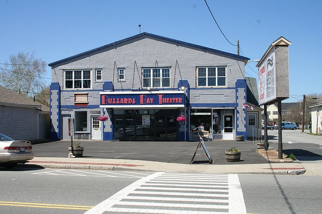 Unfortunately the theater was torn down.  I spent most of my childhood at this theater... Buzzards Bay MA Theater by ADELE JOHNSON, via Flickr