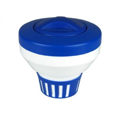 """7.5"""" Classic and White Floating Swimming Pool Chlorine Dispenser"""