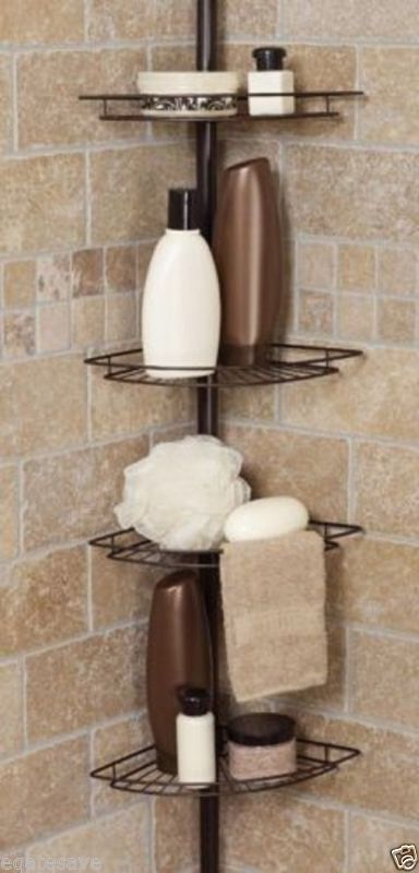 Shower Caddy Corner Shelf Organizer Bath Storage Bathroom Accessory Rack Holder