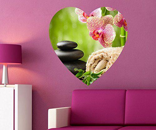 Wellness steine wallpaper  Wellness Wandbild Spa Massage Wandaufkleber Zen Steine Wandsticker ...