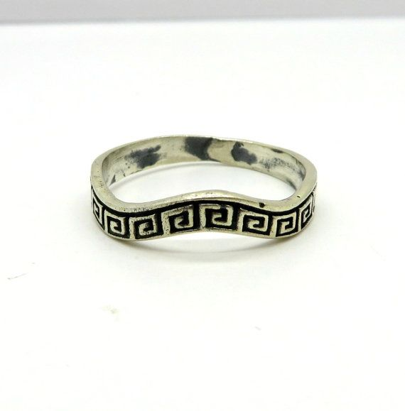 Vintage anello chiave greca tutte curve di LeesVintageJewels