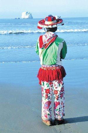 Huichol , in San Blas Nayarit beach....