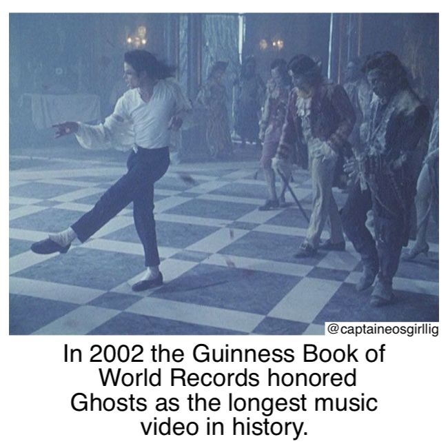 In 2002 Michael Jackson's Ghosts was honored by the Guinness Book of World Records as the longest music video in history