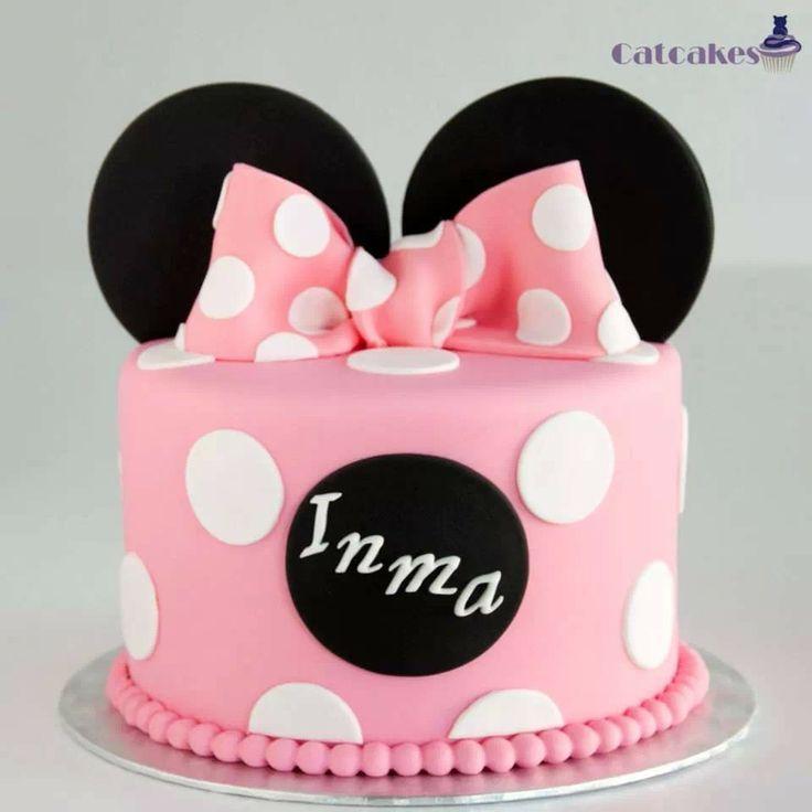 Minnie mouse tarta fondant de Catcakes