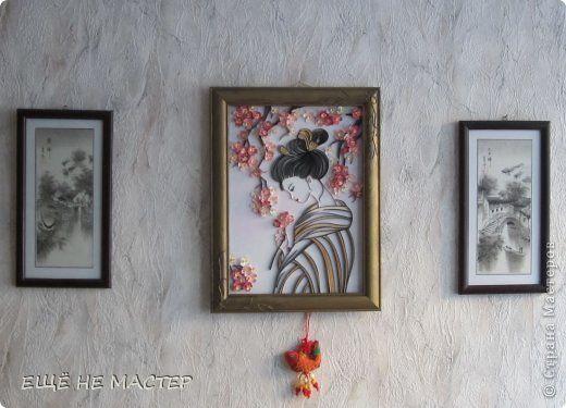 Здравствуйте, дорогие гости! Пока не начались Рождественские и Новогодние каникулы, хочу показать вам работу, завершающую мой творческий год. Она даёт надежду, что весна не за горами. Основой для картины взят рисунок нашей мастерицы Nimfadora http://stranamasterov.ru/node/632426. Надеюсь, что я её не разочаровала. фото 8