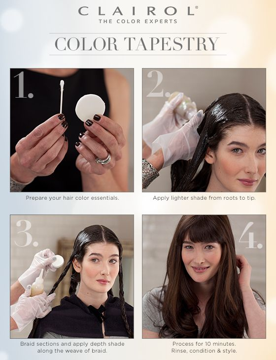 Clairol Global Director Marcy Cona shows us how to add texture and dimension to hair color using Natural Instincts with her unique Color Tapestry technique