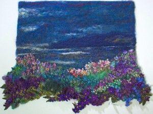textile design, textile landscapes, embroidery