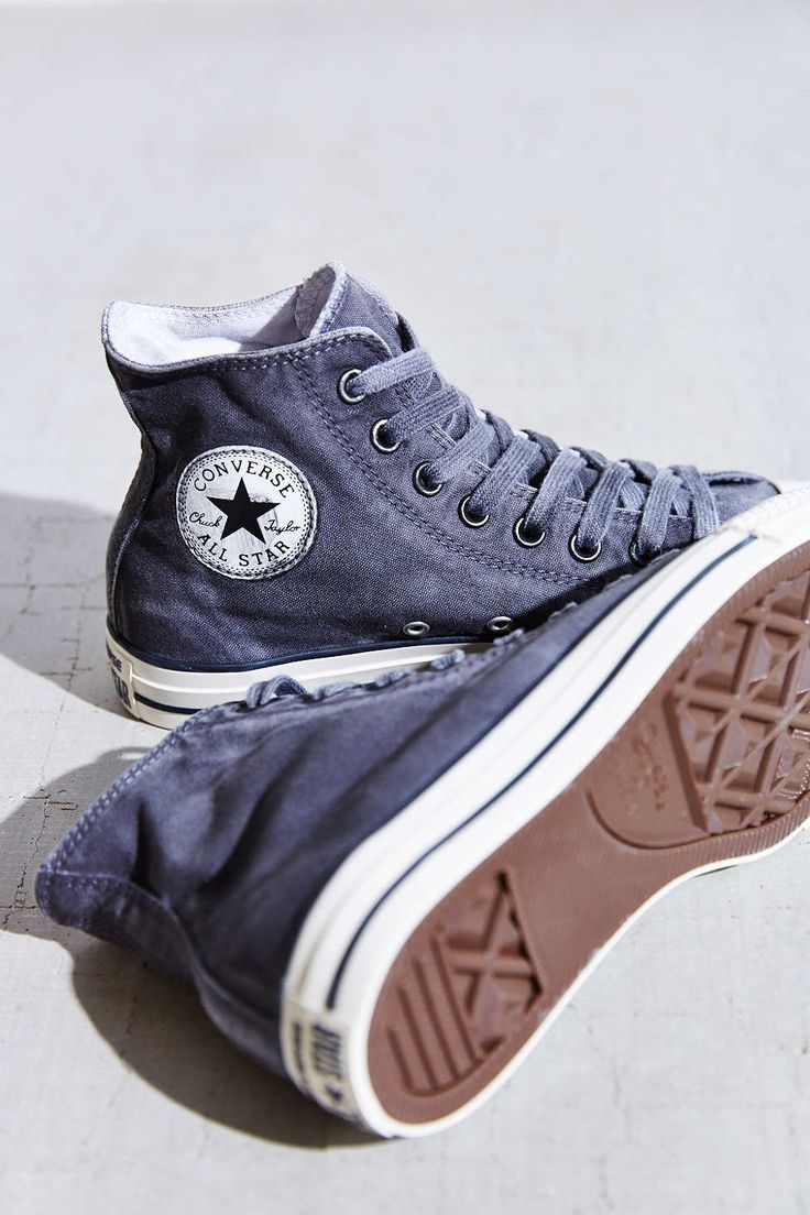 Converse Chuck Taylor All Star Washed High-Top Sneaker- Black W from Urban Outfitters #shoes
