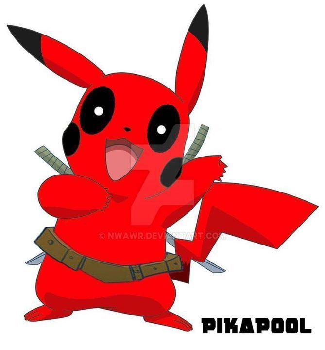 Deadpool+Pikachu into PikaPool