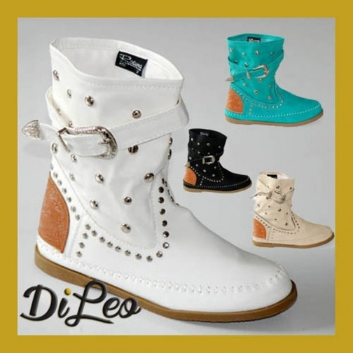 News! Wide Range Colour Summer Studded Boots 192  Di Leo calzature shoes www.dileocalzature.it