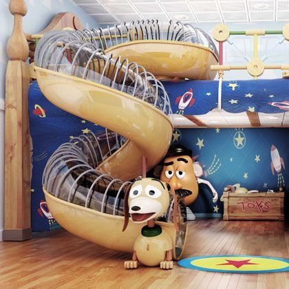 Andys Room Slinky slide my brothers room