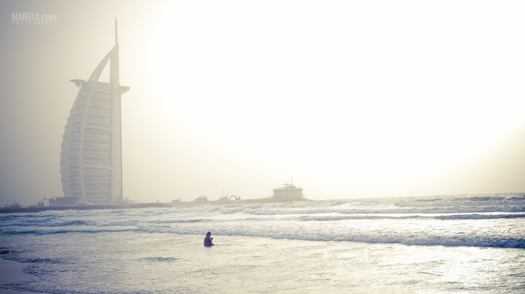 """Praying Indian""  Burj Al Arab Dubai  www.makiela.com"